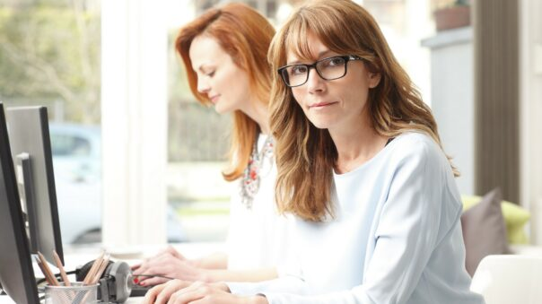 Teamwork at modern graphics studio